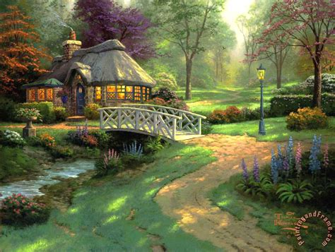 kinkade friendship cottage painting friendship