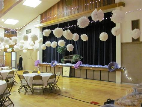 decorating a gym for a wedding reception   Header: Wedding
