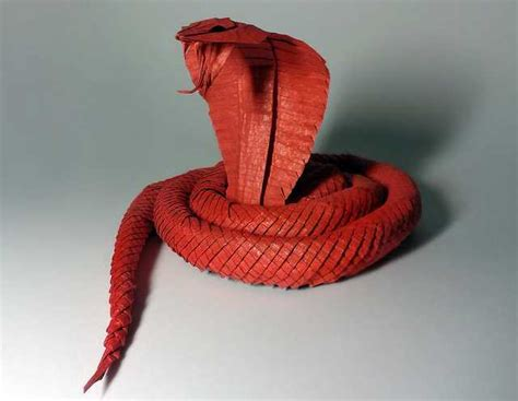 Origami Cobra - king cobra beautiful 3d origami by jaroslav mishchenko