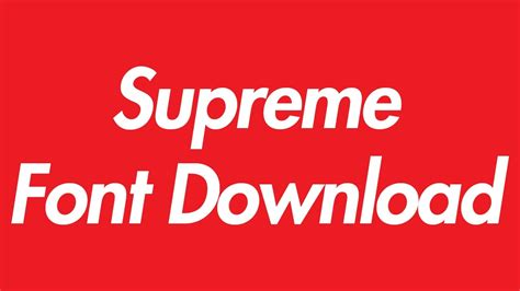 Dafont Supreme Font | supreme logo font download youtube