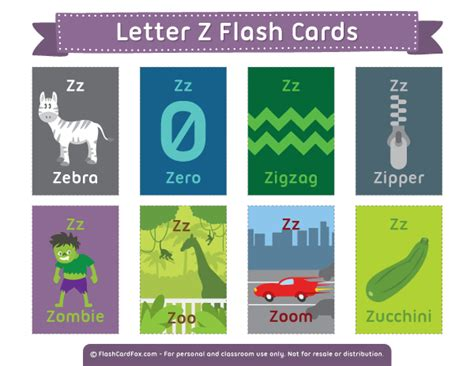 printable flash cards a z free printable letter z flash cards download them in pdf