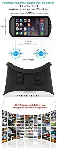 Deal Today Tc Iphone 6 5 4 Android Travel Charger Murah j deal 174 large fov 3d vr reality 3d glasses helmet headset adjust cardboard vr box