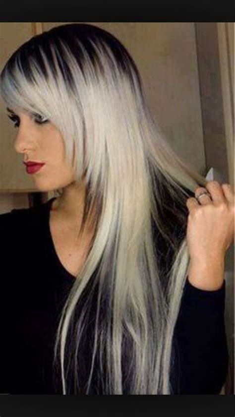 how to add dark roots hair dark roots on platinum blonde hair i love my hair i