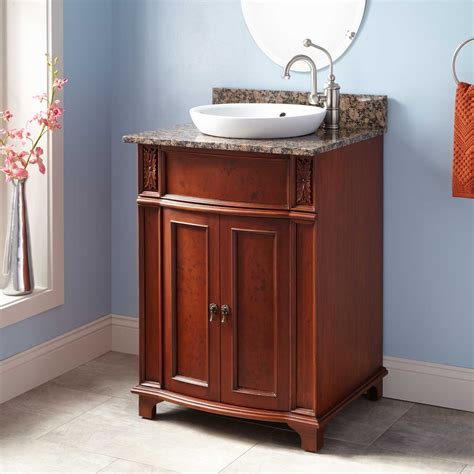 cherry bathroom vanities 24 quot kinloch vanity for semi recessed sink cherry