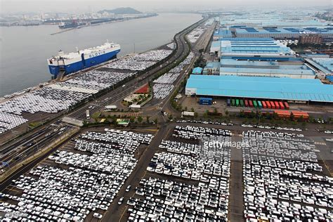 inside a hyundai motor co car port as carmaker reports