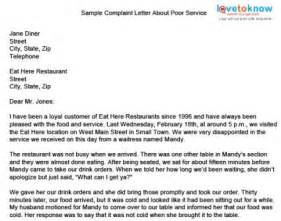 Refused Break Letter sample complaint letter