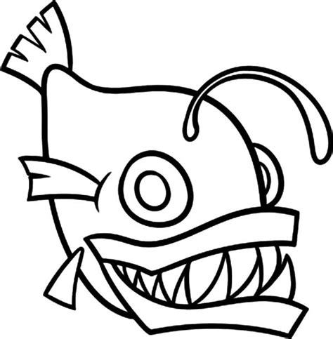 monster fish coloring pages funny monster fish coloring pages color luna