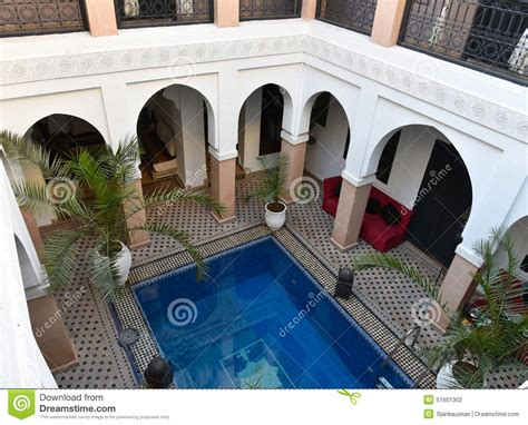House Plans With Pool Courtyard traditional moroccan house riad stock photo image 51601302