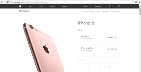 iphone 6s and iphone 6s plus official prices in malaysia