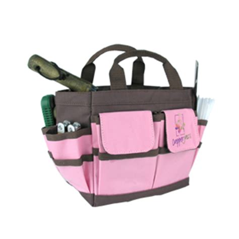 Garden In A Bag Gives The Gift Of Fresh Herbs by Pink And Brown Compact Tool Bag Dapperjacs Gardening