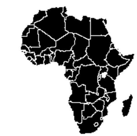 africa map black nr 19
