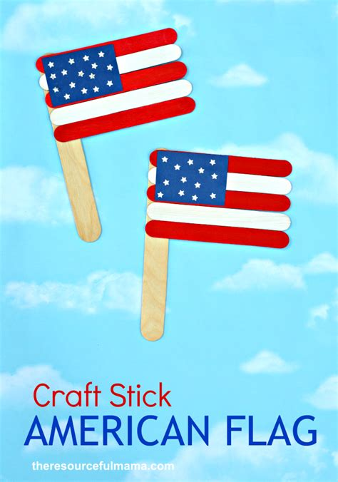 flag craft for patriotic craft stick american flag craft the