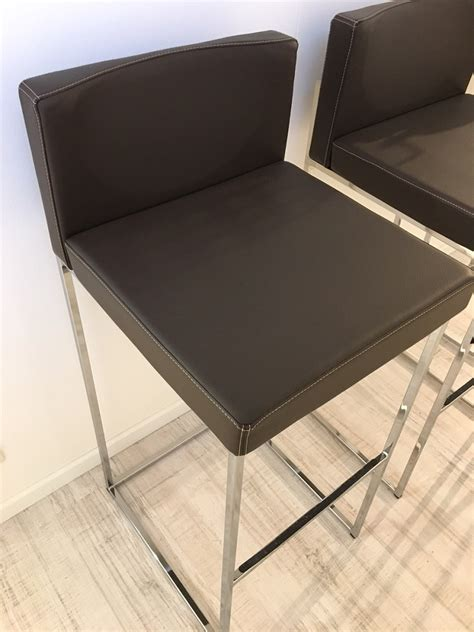 sgabelli calligaris outlet calligaris 3 sgabelli alti in vera pelle marrone sedie a
