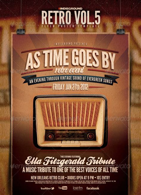 25 retro vintage psd flyer templates web graphic