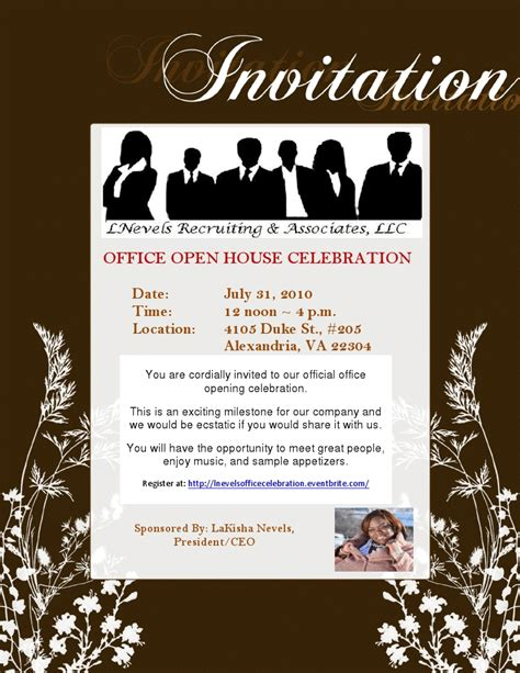 Invitation For Office Event Office Invite Template