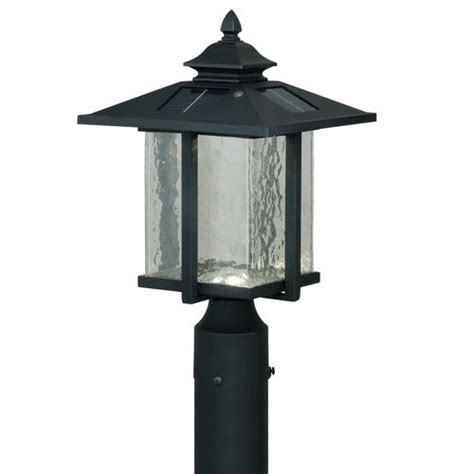 outdoor lighting menards paradox led 15 5 8 quot textured black solar outdoor post