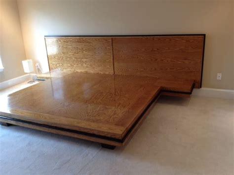 custom white oak platform bed  bungalow white oak