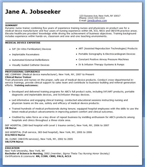 resume for nurse educator position resume downloads