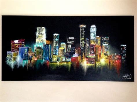 angelus paint los angeles los angeles skyline painting by jerryrdrgz on etsy 1300