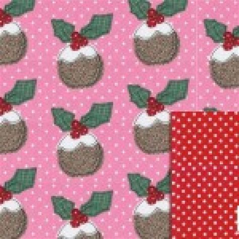 Pudding Paper Wrapping Bunga gift wrapping paper reversible pudding wrap