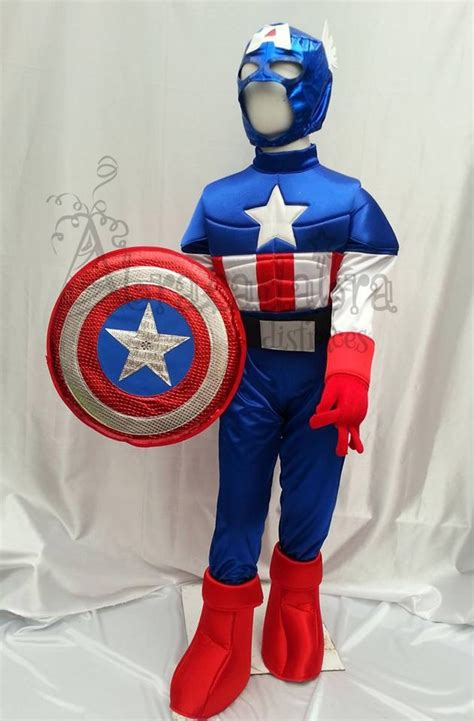 disfras con reciclaje d capitan america disfraz estilo capitan america con escudo y mascara