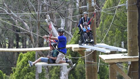 Uf Mba Ropes Course by Loads Of At The High Ropes Course For Wheelchairs