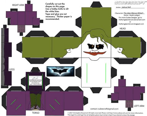 Cubee Papercraft - dcf5 joker cubee by theflyingdachshund on deviantart