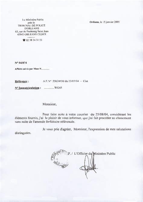 Exemple De Lettre Tresor Amende Officier Minist 232 Re