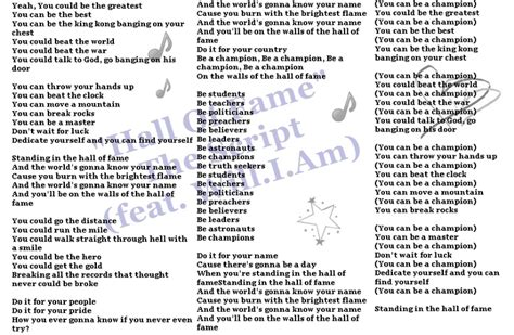 song 2 testo lyrics to of fame by the script dedicated to