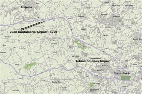 map of san jose international airport costa rica which airport is better lir in libera or sjo outside of