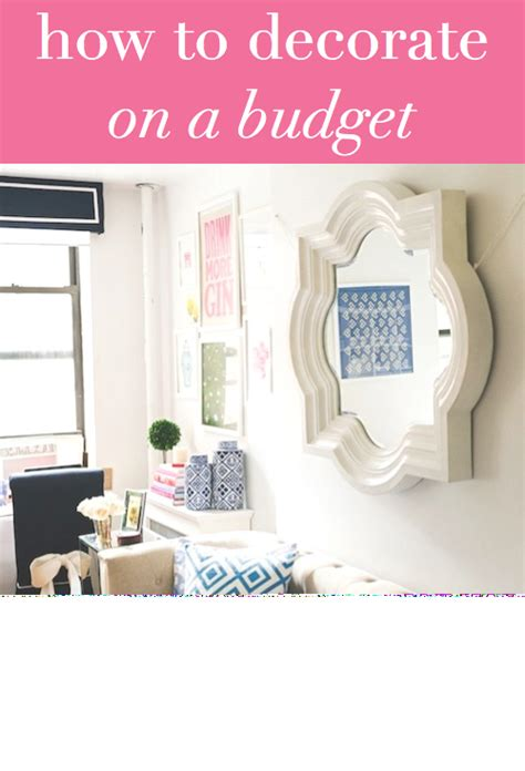 how to decorate on a budget design