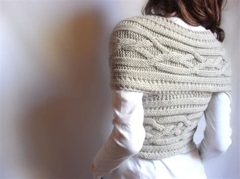 etsy pilland pattern hand knit vest cable knit womens sweater knit cowl many