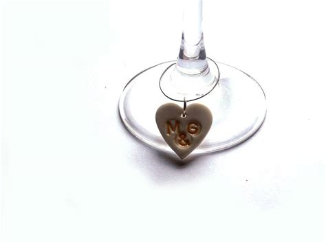 personalised wine glass charms by choroszewska