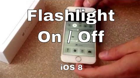 iphone 6 iphone 6 plus how to turn on the flashlight ios8