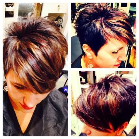dark brown pixie with highlights 17 best images about hawt hair on pinterest short pixie