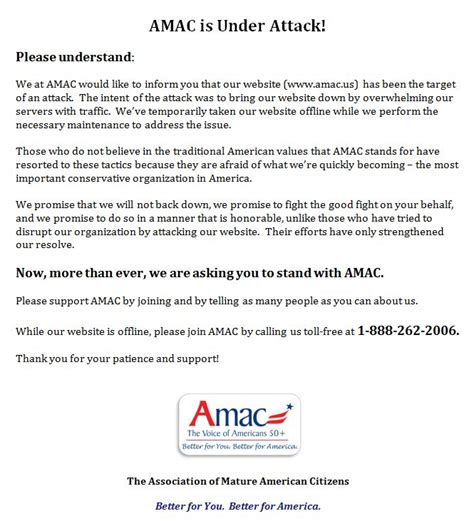 amac organization silent sender anonymous email news amac hacked and
