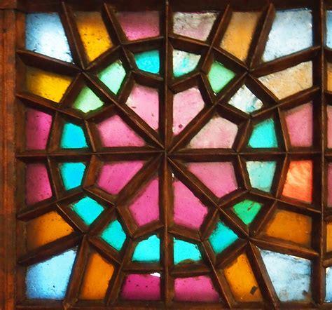 islamic pattern glass wood glass geometry stained glass in iran and azerbaijan