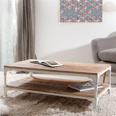 table basse metal blanc table basse sur roulettes bois fer blanc westwood