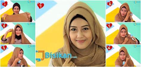 tutorial jilbab pashmina untuk acara santai tutorial hijab pashmina yang simple untuk acara santai 2