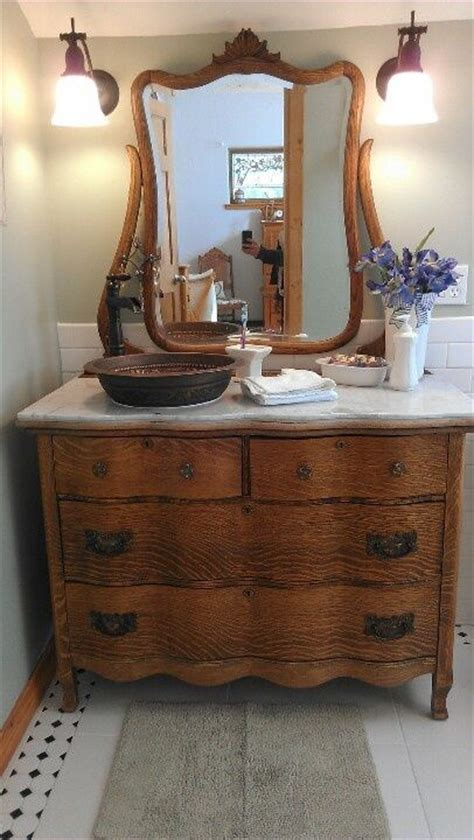 old dresser as bathroom vanity pin by pat flynn on vintage home pinterest