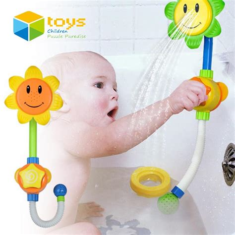 bathtub toys for toddlers baby bath toys for children kids shower room sunflower