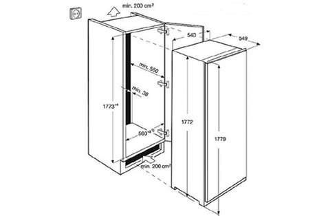 largeur meuble frigo