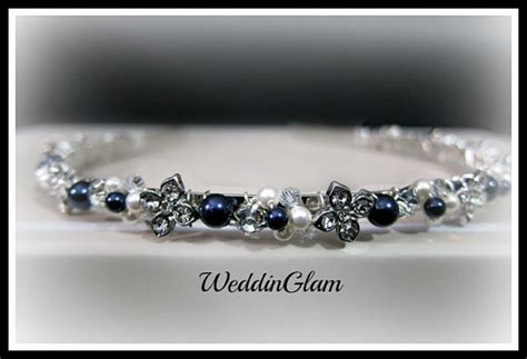 Wedding Hair Accessories Blue by Navy Blue Wedding Headband Bridal Hair Accessories