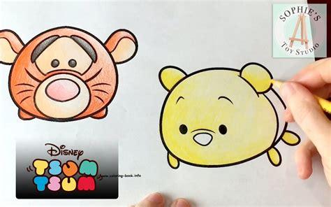 disney tsum tsum coloring pages adorable tigger