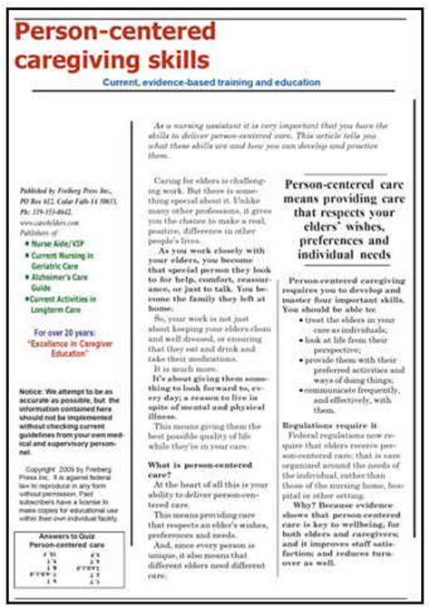 person centered caregiving skills store4caregivers