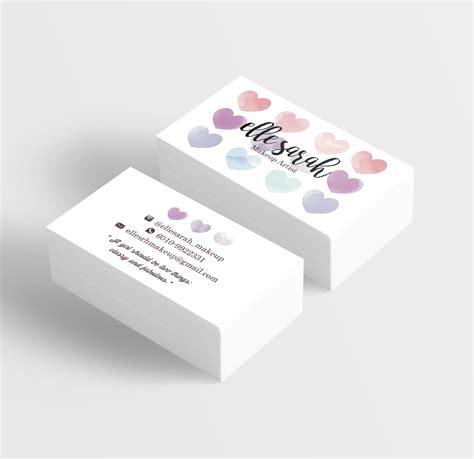 design grafis business card premade watercolor love namecard business card design
