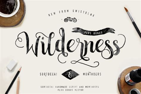 Handmade Fonts - sortdecai handmade script and bonus befonts