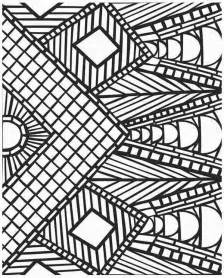 geometric coloring pages for adults the of the design of mosaic coloring pages for