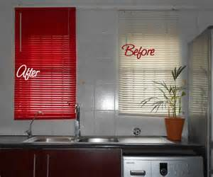 How To Get Paint Blinds home dzine craft ideas spray paint my kitchen blinds