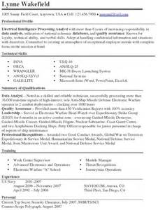 Cia Analyst Sle Resume by Pin Electrical Intelligence Processing Analyst Resume Exle Page 1 On